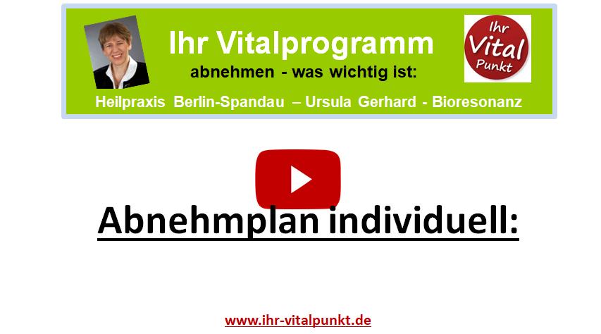 Abnehmplan individuell - Ihr Vitalprogramm