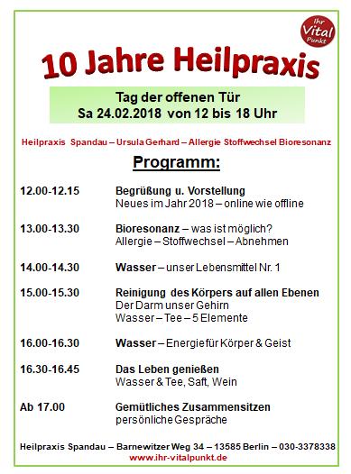 10 Jahre Heilpraxis Spandau - Ursula Gerhard