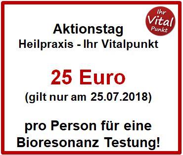 Bioresonanz Aktionstag - 25 statt Normalpreis 60 Euro